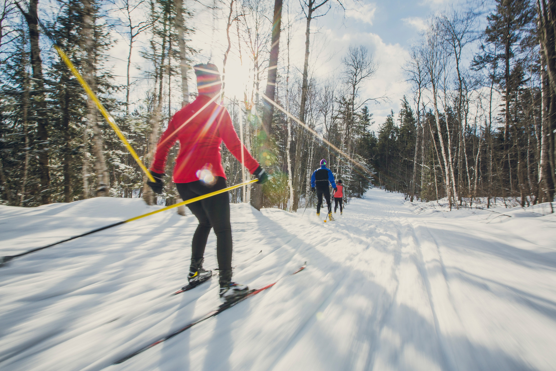 Cross-Country Skiing and Snowshoeing in Hope Valley Through Sno-Park